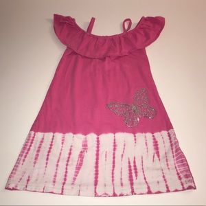 Flapdoodles Dress w/Sequins Butterfly | Size: 7